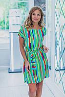 Легкое летнее платье-туника с поясом