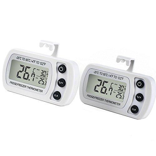 Комплект 2 х цифровой термометр Unigear RT-2W для холодильника, морозильника (-20 to 50°C)