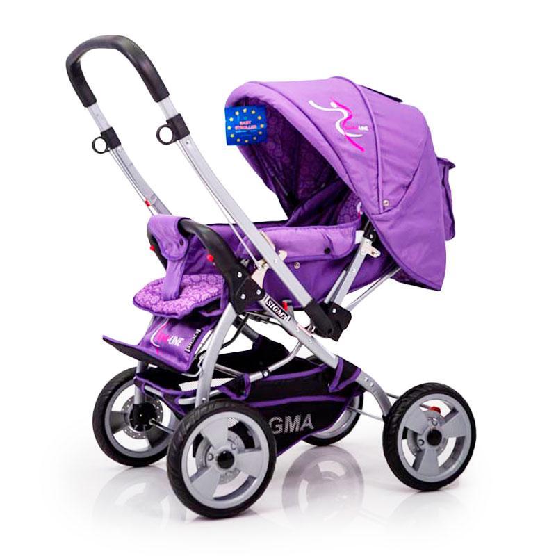 Детская прогулочная коляска с перекидной ручкой Sigma H-538EF Фиолетовый