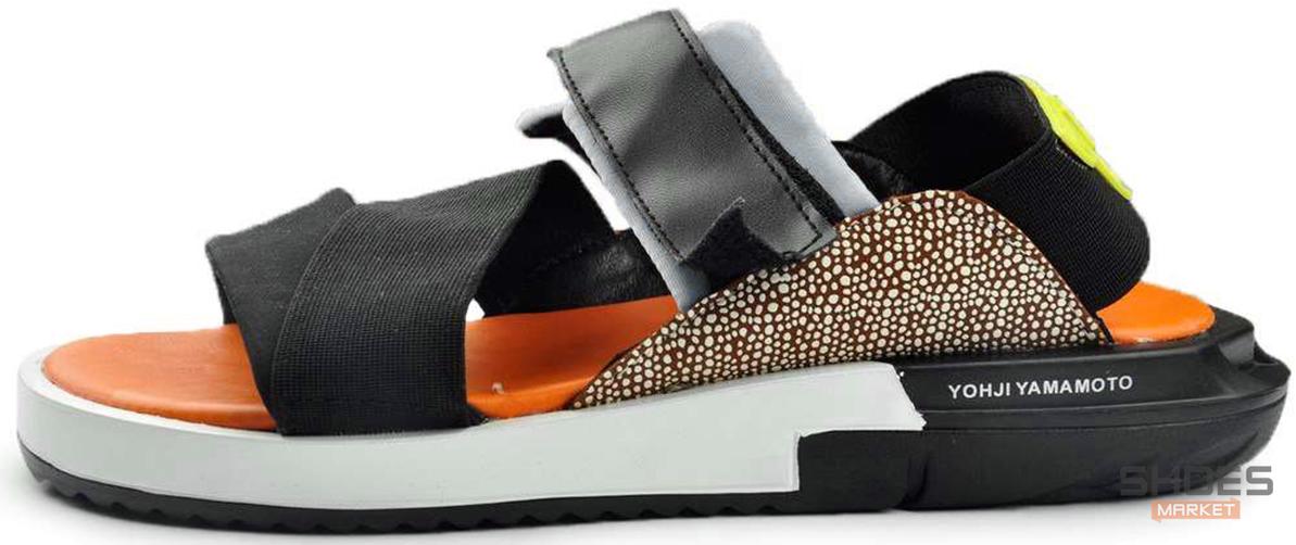 Мужские сандали Adidas Y-3 KAOHE SANDAL Black/Blue/Yellow/Orange B23722