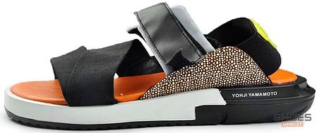 Мужские сандали Adidas Y-3 KAOHE SANDAL Black/Blue/Yellow/Orange B23722, фото 2
