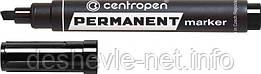 Маркер Centropen Permanent 8576 1-4,6 мм., клиноподобный, черный