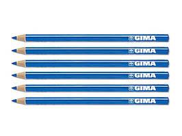 Карандаш GIMA DERMATOGRAPH на восковой основе для нанесения разметки и эскиза № 6, синий, Италия
