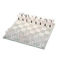 Шахматы, шашки стеклянные, фигуры стакан GB086L, фото 1