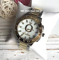 Женские часы Pandora золото серебро перламутровый циферблат с камнями логотип и надпись