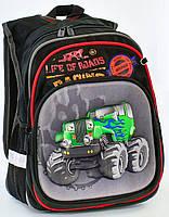 Школьный рюкзак Машинка 3d для мальчиков 1, 2, 3, 4 класс. Портфель ранец ортопедический для школы
