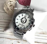 Женские часы Pandora серебро перламутровый циферблат с камнями логотип и надпись