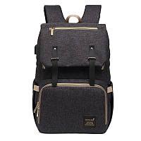 Сумка рюкзак для мамы Mummy + Термочехол черный
