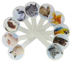 Веер с картинками Домашние животных Атлас (К-5376)