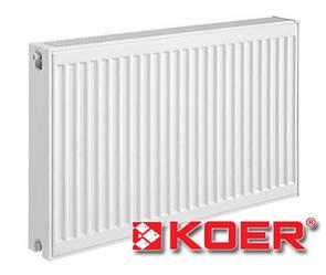 Стальной радиатор Koer 500х500 тип 22 (боковое подключение)