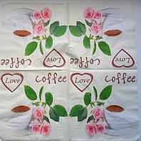 Серветка для декупажу. Чашка кави, 33х33 см