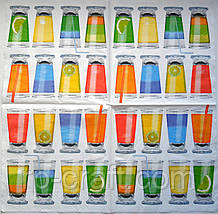 Серветка для декупажу. Склянки, 33х33 см