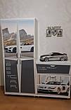 """Шкафы купе детские  А2 """"Mercedes"""" серый, фото 2"""