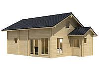 Дом деревянный из профилированного бруса 7.4х5.4. Кредитование строительства деревянных домов
