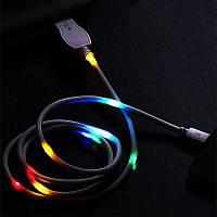 USB кабель для iPhone Светодиод реагирующий на звук