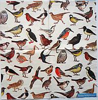 Серветка для декупажу. Птахи, 25х25 см