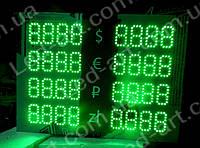 Светодиодное табло обмен валют двустороннее 700х400 мм LED-ART-700х400-1