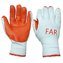 Перчатки рабочие для строительных работ FAR, ХБ, уп. — 12 пар