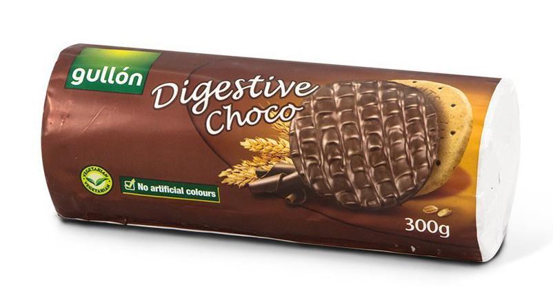 Печиво GULLON Digestive Choko з шоколадом, 300г (24шт)