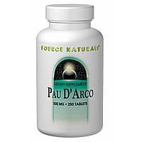 Кора муравьиного дерева (Пау Дарко) 250 таб 500 мг для иммунитета от гриппа простуды Source NaturalsUSA