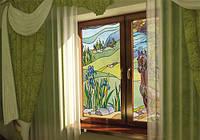 Ультрафиолетовая печать - цветные рисунки на окнах для вашего интерьера.