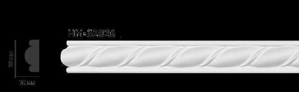 Молдинг для стен с орнаментом Classic Home HM-32026Q , лепной декориз полиуретана