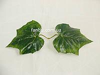 Искусственные парные листья винограда(А-самый большой) ,на 1 розетке 2 листа(цвет зеленый).