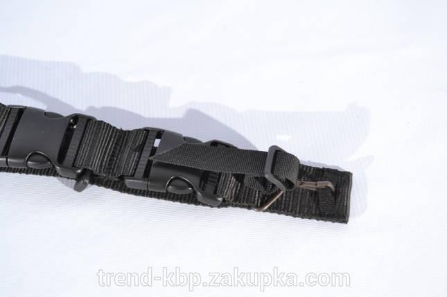 РЕМЕНЬ ТРЕХ ТОЧЕЧНЫЙ  «СПЕЦНАЗ» BLACK, фото 2