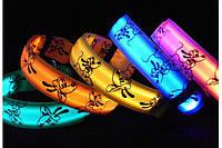 """Светящийся ошейник LED """"Веселый Гуфи"""" для собак и кошек светодиодный"""