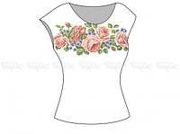 Заготовка женской блузы без рукавов для вышивки бисером «Цветочное разнообразие»