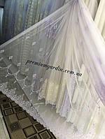 Тюль турецкая на основе турецкой греческой сетки(матовая) в спальню или гостинную №24068. Цвет: белый