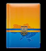 Блокнот UKRAINE, А-5, 80л., кл., тв. обл., глян. лам. с поролоном, синий BM.24582101-02 Buromax (отеч.пр-во)