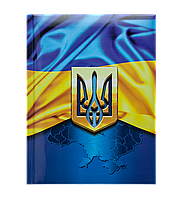 Блокнот UKRAINE, А-5, 80л., кл., тв. обл., глян. лам. с поролоном, т.-синий BM.24582101-03 Buromax (отеч.пр-во)