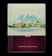 Блокнот SIGHT, А-5, 80л., кл., тв. обл., глян. лам. с поролоном, бордовый BM.24582105-13 Buromax (отеч.пр-во)