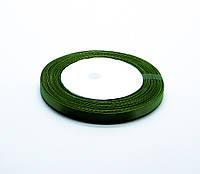 Лента атласная,темно-зеленая, 6 мм. (рулон 23м)