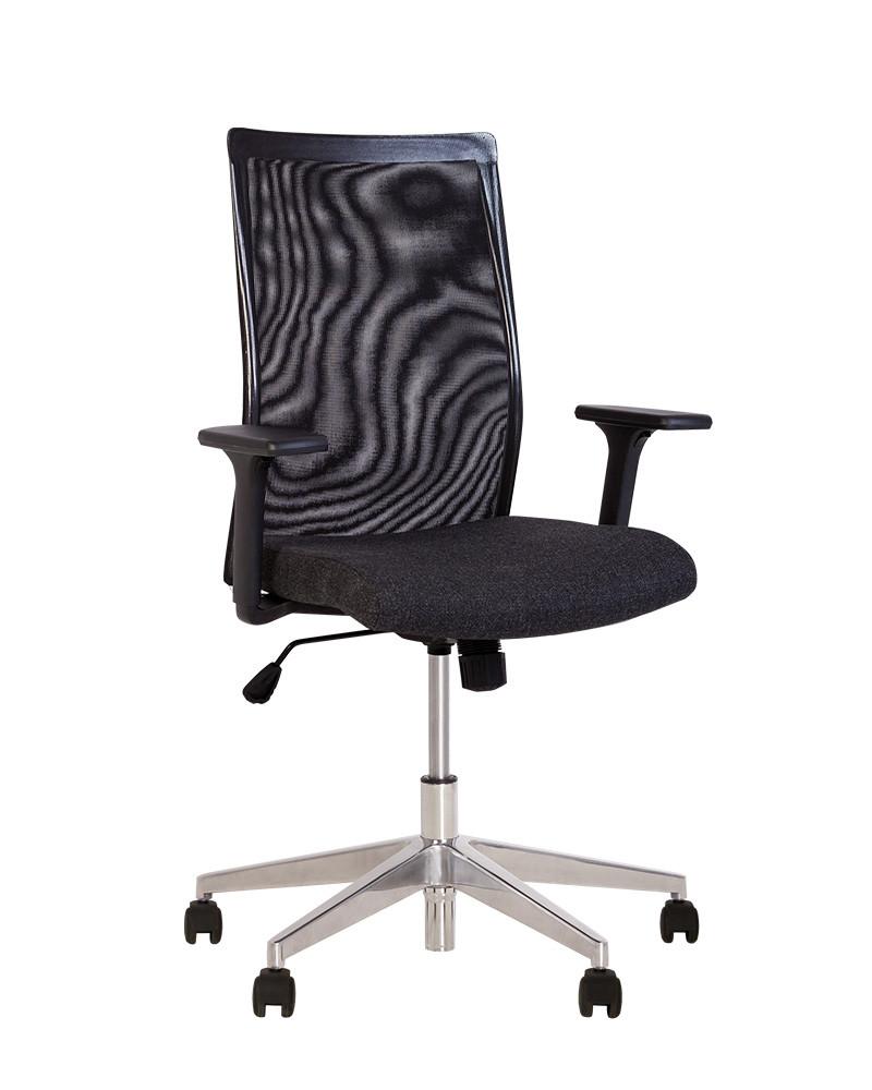 Кресло офисное Air R Net chrome механизм SL крестовина AL70 спинка сетка ОР-24, ткань ZT-24 (Новый Стиль ТМ)