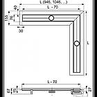 Дренажный канал TECE drainline с гидроизоляцией Seal System угловой, фото 4