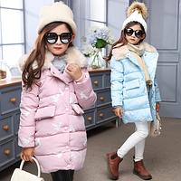 Зимове пальто для дівчинки / зимние куртки для девочек, одежда для детей, детская одежда, плотное пальто