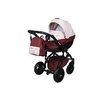 Детская универсальная коляска 2 в 1 Angelina Amadeo (1241010057-бордовая)