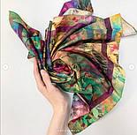 Платок хлопковый 10281-15, павлопосадский платок на голову хлопковый (саржа) с подрубкой, фото 9