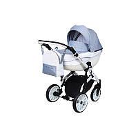 Детская универсальная коляска 2 в 1 Angelina Amadeo (1241010057-голубая с перфорацией)