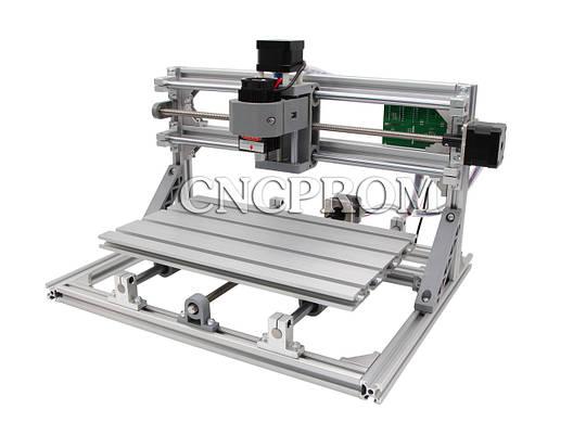 Лазерный фрезерно-гравировальный станок USB 3018 (лазер 500mW + шпиндель 150W), 3 координаты, фото 2