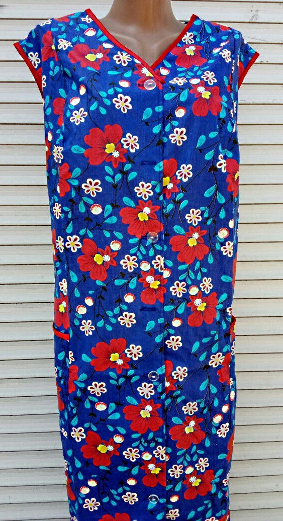 Летний халат без рукава 56 размер