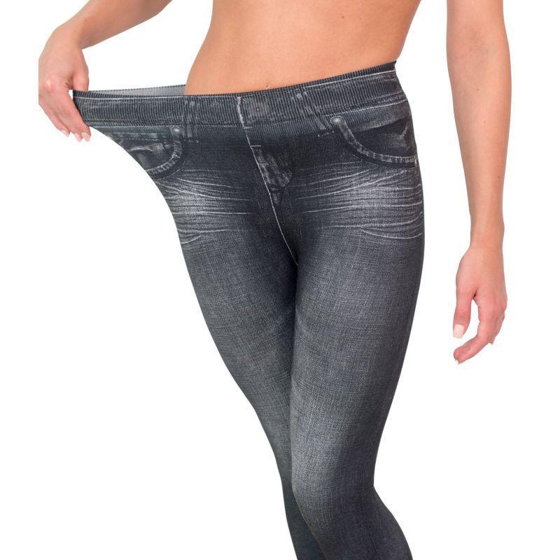 Корректирующие джинсы Slim N Lift Caresse Jeans Черный | L / XL