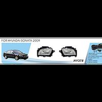 Противотуманные фары Vitol HY-378 Hyundai Sonata 2009 эл.проводка