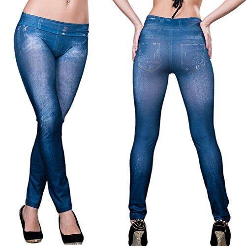 Корректирующие джинсы Slim N Lift Caresse Jeans Синие Xxl / XXxl