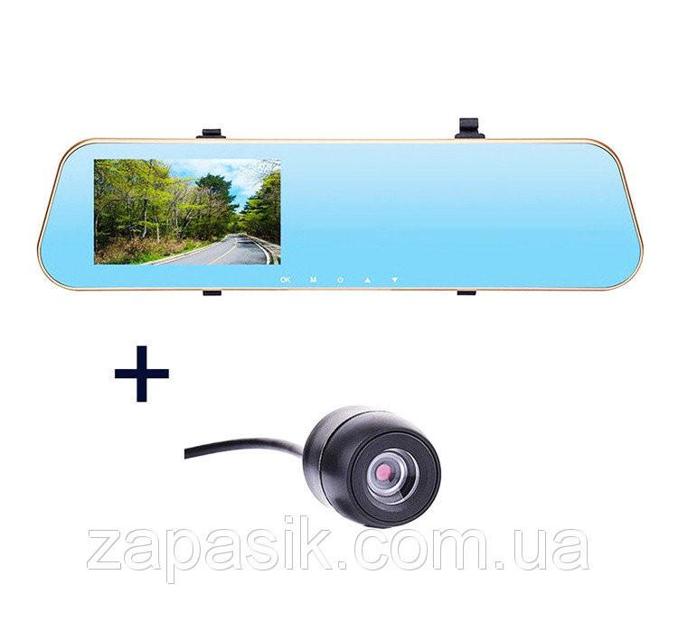 Зеркало Заднего Вида + 2 Камеры Видеорегистратор DVR DV460 Gold