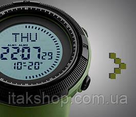 Спортивные тактические часы Skmei 1254 с компасом хаки, фото 3
