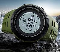 Спортивные тактические часы Skmei 1254 с компасом хаки
