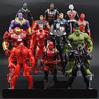 Набор Марвел Мстители Супергерои 14 шт. Высота 16-18 см. , фото 1